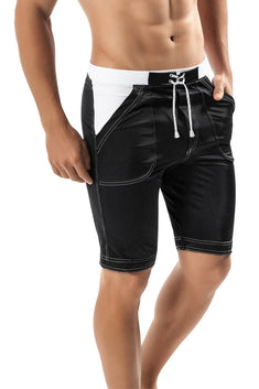 Clever Black Guarulhos Long Swim Trunk
