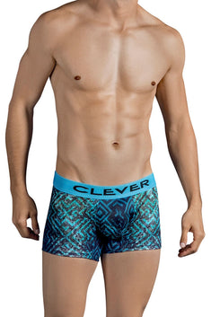 Clever Dark-Blue Labyrinth Boxer Brief