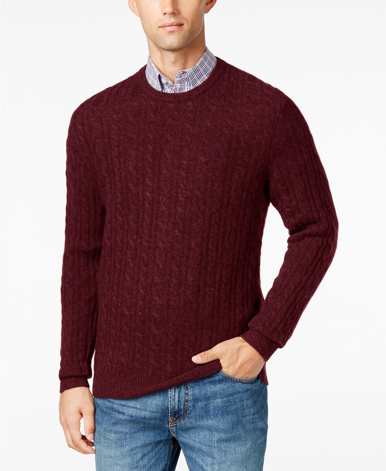 Club Room Cashmere Sweaters  Cabernet