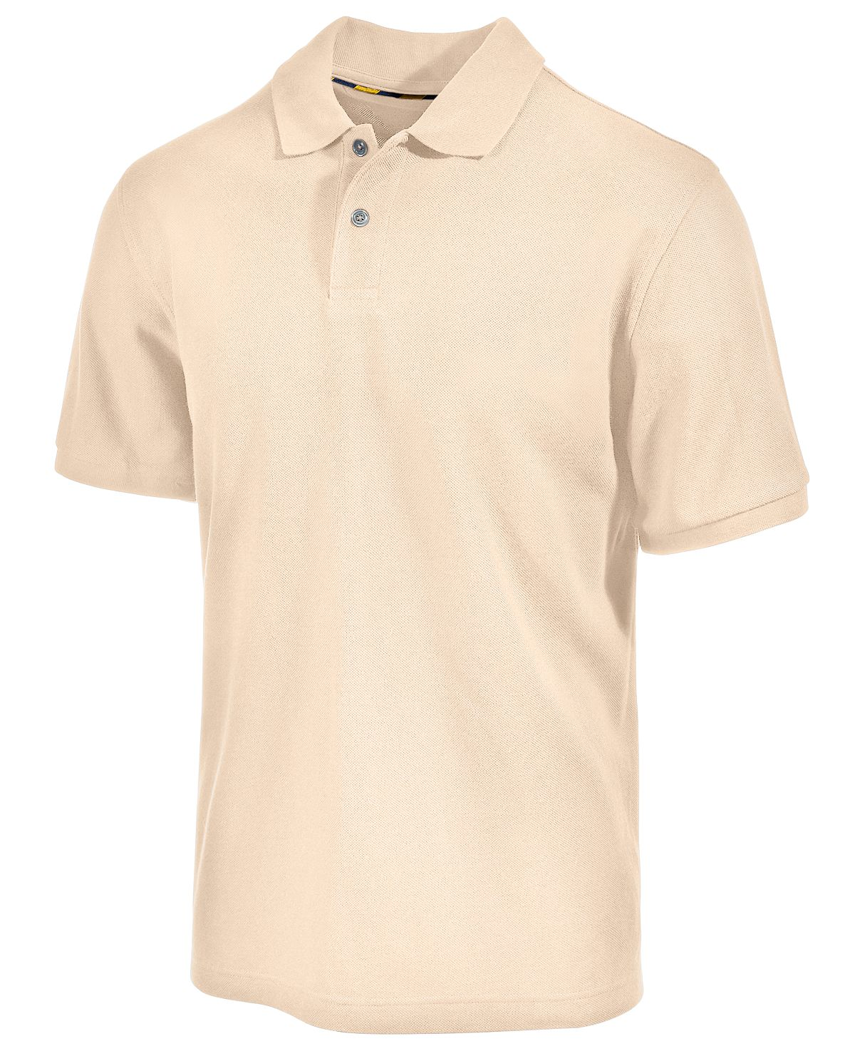 Club Room Classic-fit Solid Performance Upf 50+ Polo Natural
