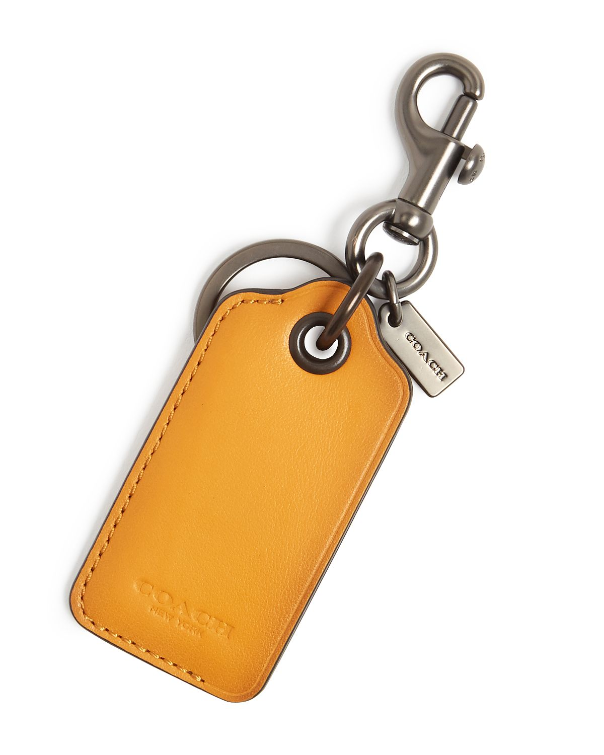 Coach Boxed Leather Key Fob & Bottle Opener Amber