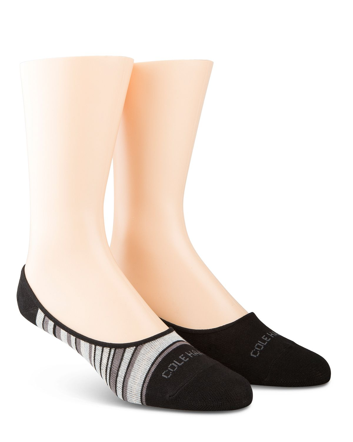 Cole Haan Town Stripe Liner Socks Pack Of 2 Black