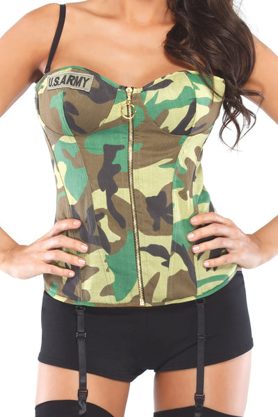 Coquette Camo Army Bustier Costume - CheapUndies.com