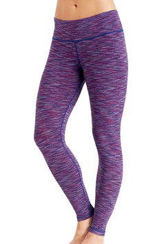 CuddlDuds Blue/Plum Space-Dye Flex-Fit Long Legging