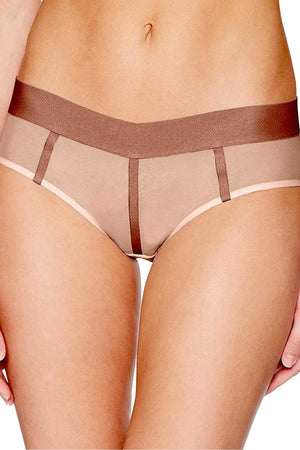 DKNY Pink Sheers Mesh-Panel Hipster - CheapUndies.com