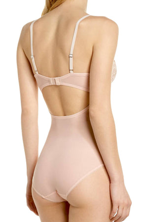DKNY Rose-Water Classic-Lace Sheer Bodysuit
