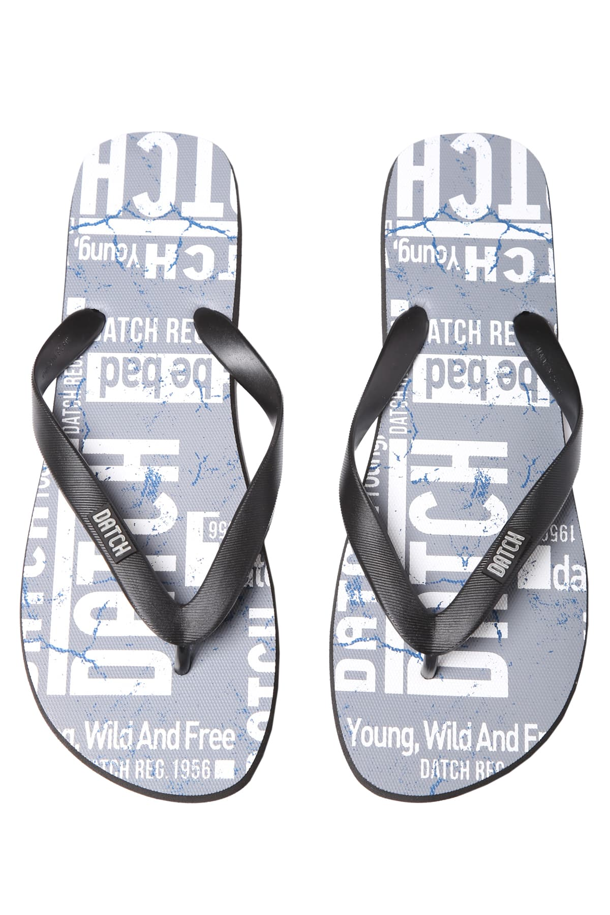 Datch Grey Logo Flip Flops