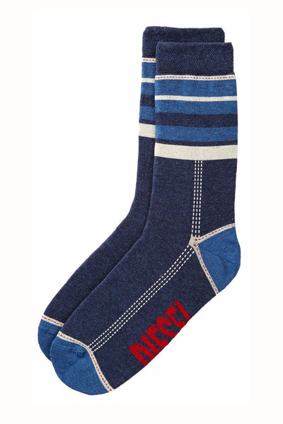 Diesel Blue Denim Stripe Ray Sock - CheapUndies.com