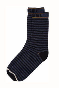 Diesel Navy & Black Stripe Ray Socks