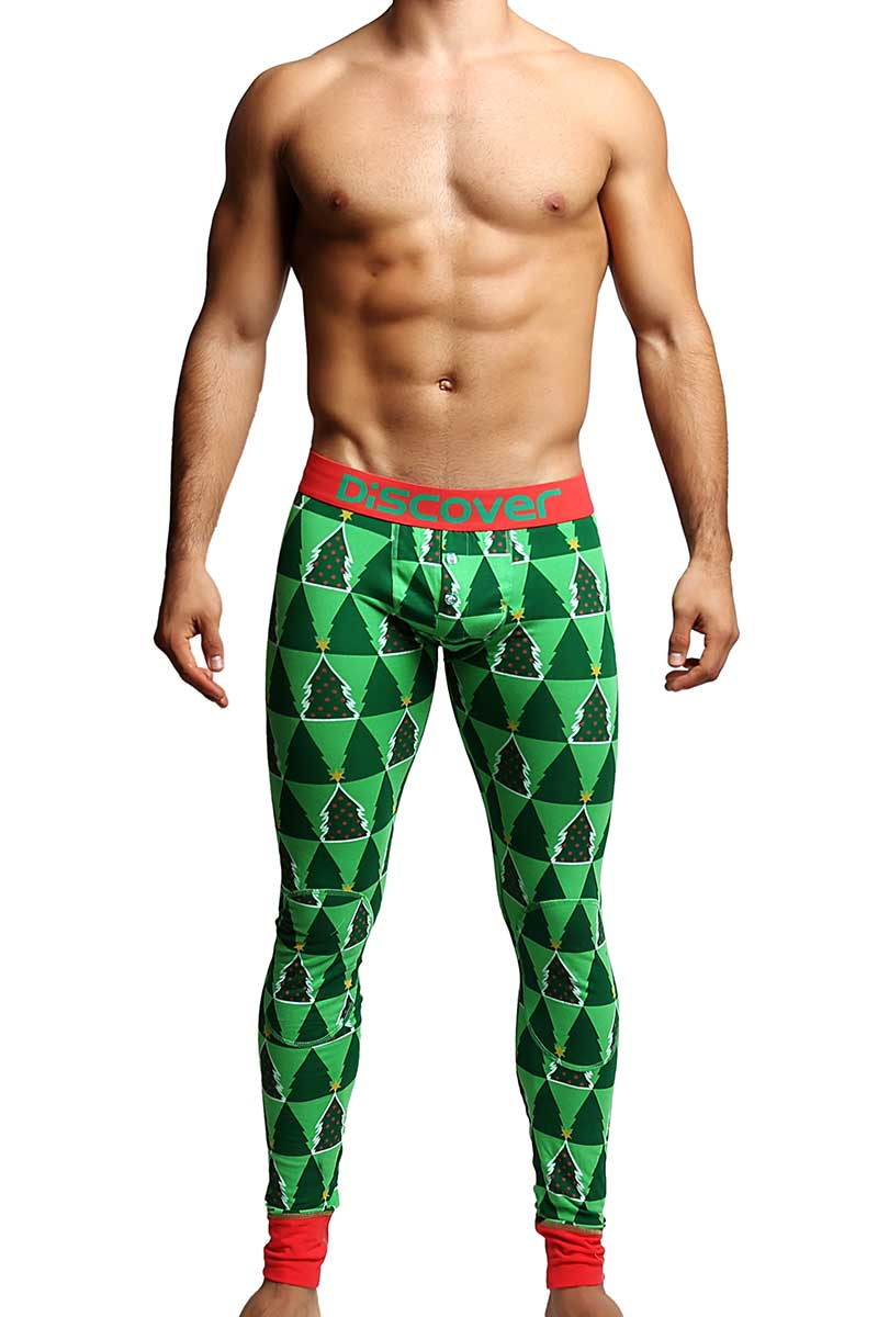 Discover Christmas Tree Long Underwear