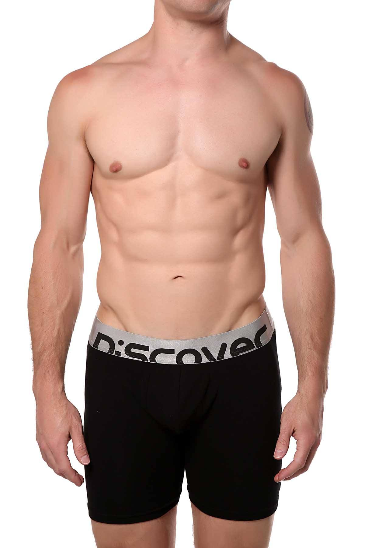 Discover Deep-Black Silver Surf Boxer Brief
