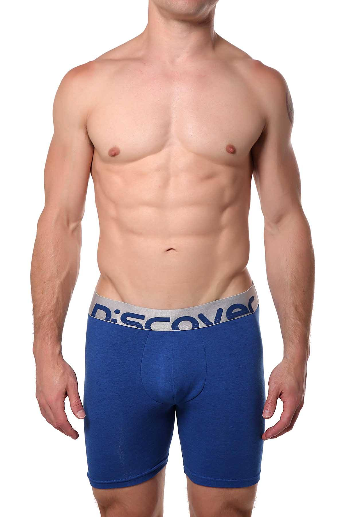 Discover Denim-Blue Silver Surf Boxer Brief