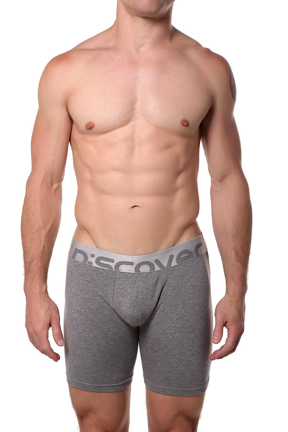 Discover Stone-Grey Silver Surf Boxer Brief