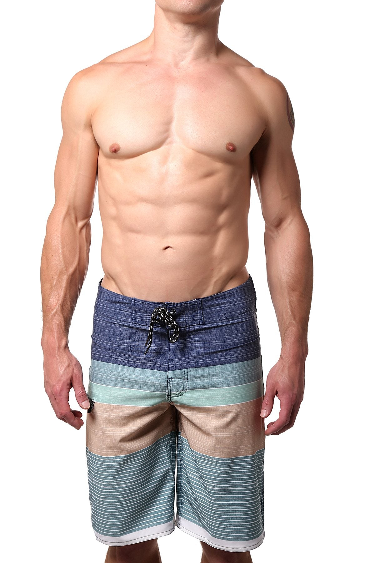 Distortion Salt Water/Sand Striped Boardshort