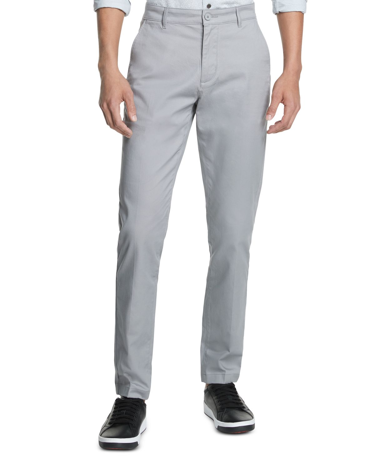 Dkny Straight-fit Core Twill Pants Griffin