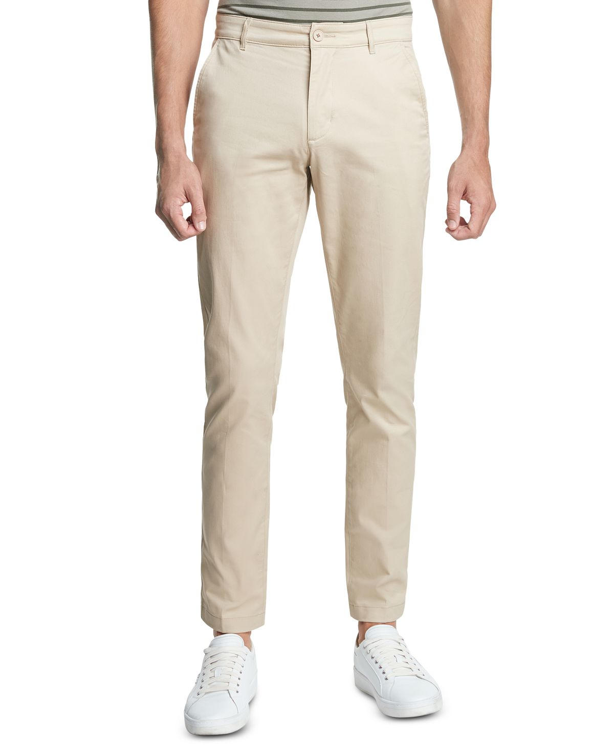 Dkny Straight-fit Core Twill Pants Sand