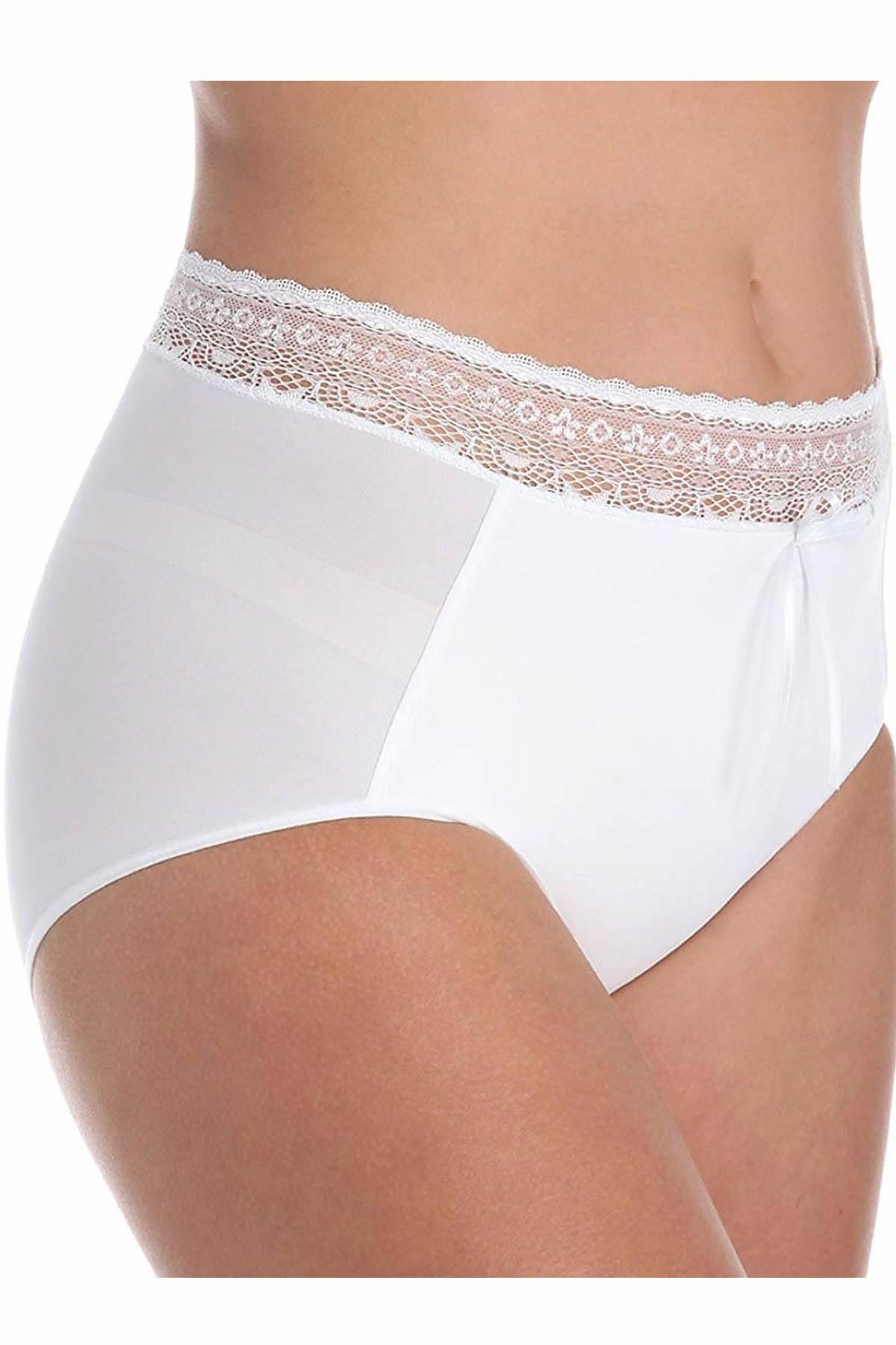 DuMi Shapewear White Body-Sculpting High-Cut Brief