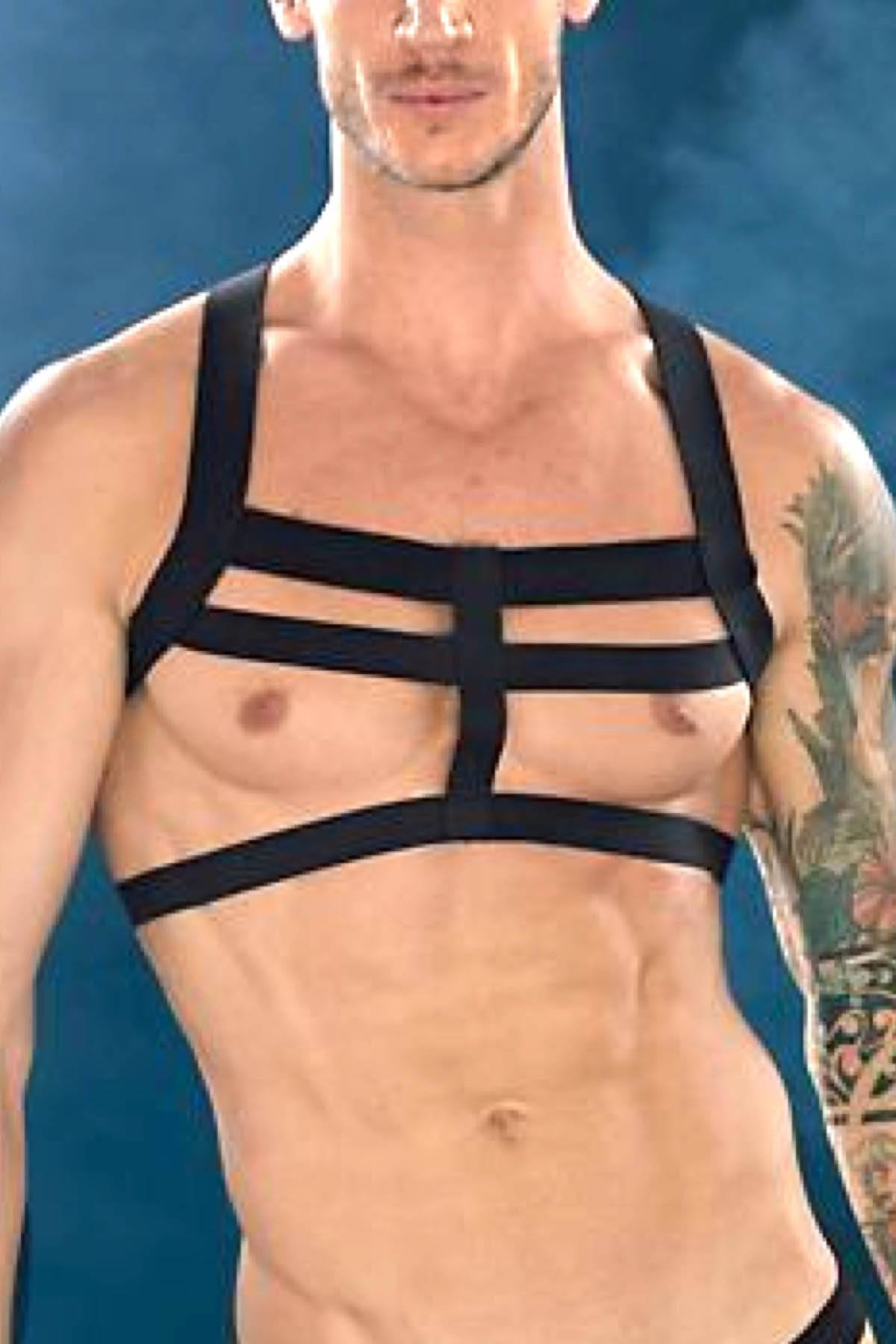 Extreme Collection Black Elastic Dungeon Harness