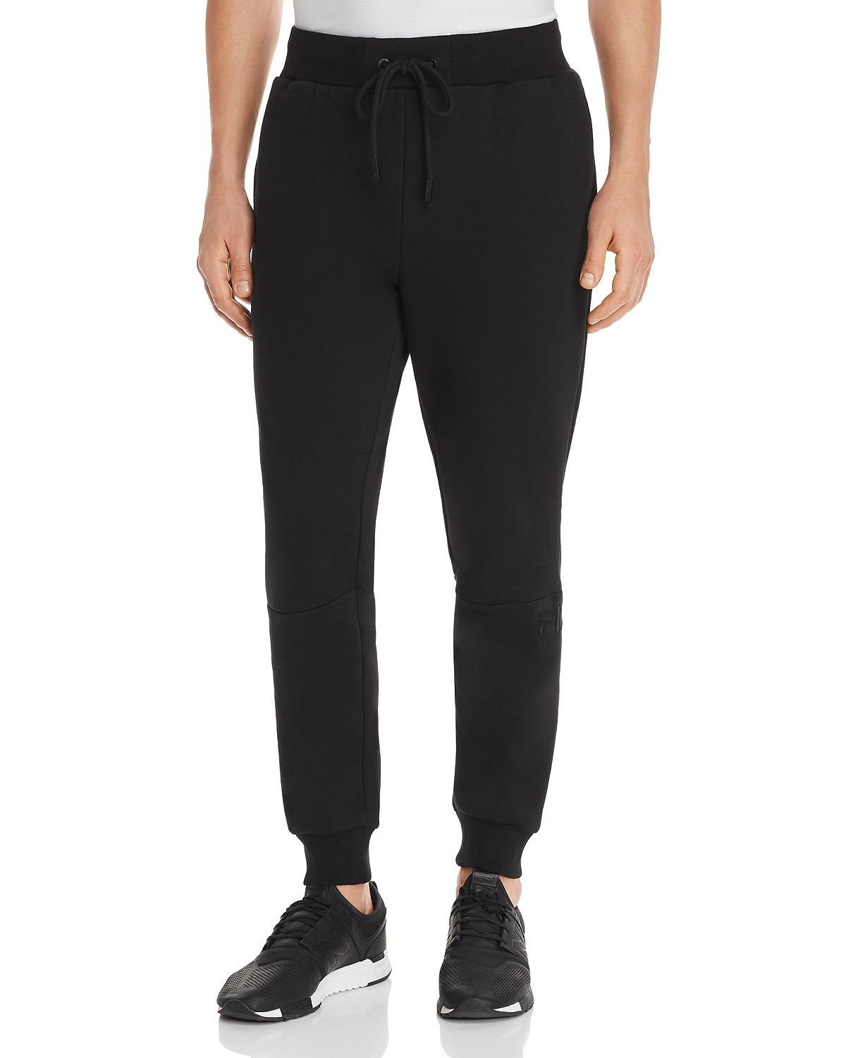 Fila Topher Logo-embroidered Sweatpants Black