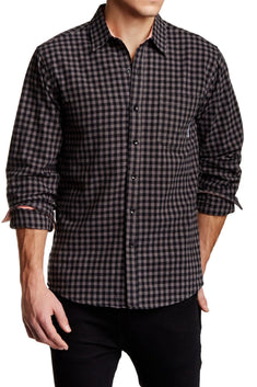 Filthy Etiquette Grey & Black Harper Button-Up Shirt