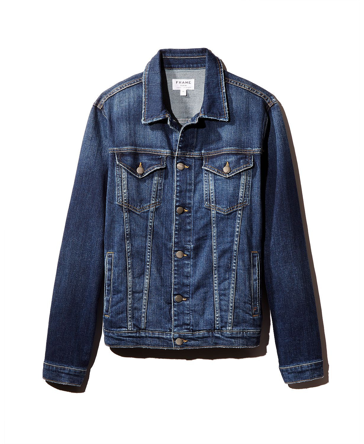 Frame L'homme Distressed Denim Jacket Presido