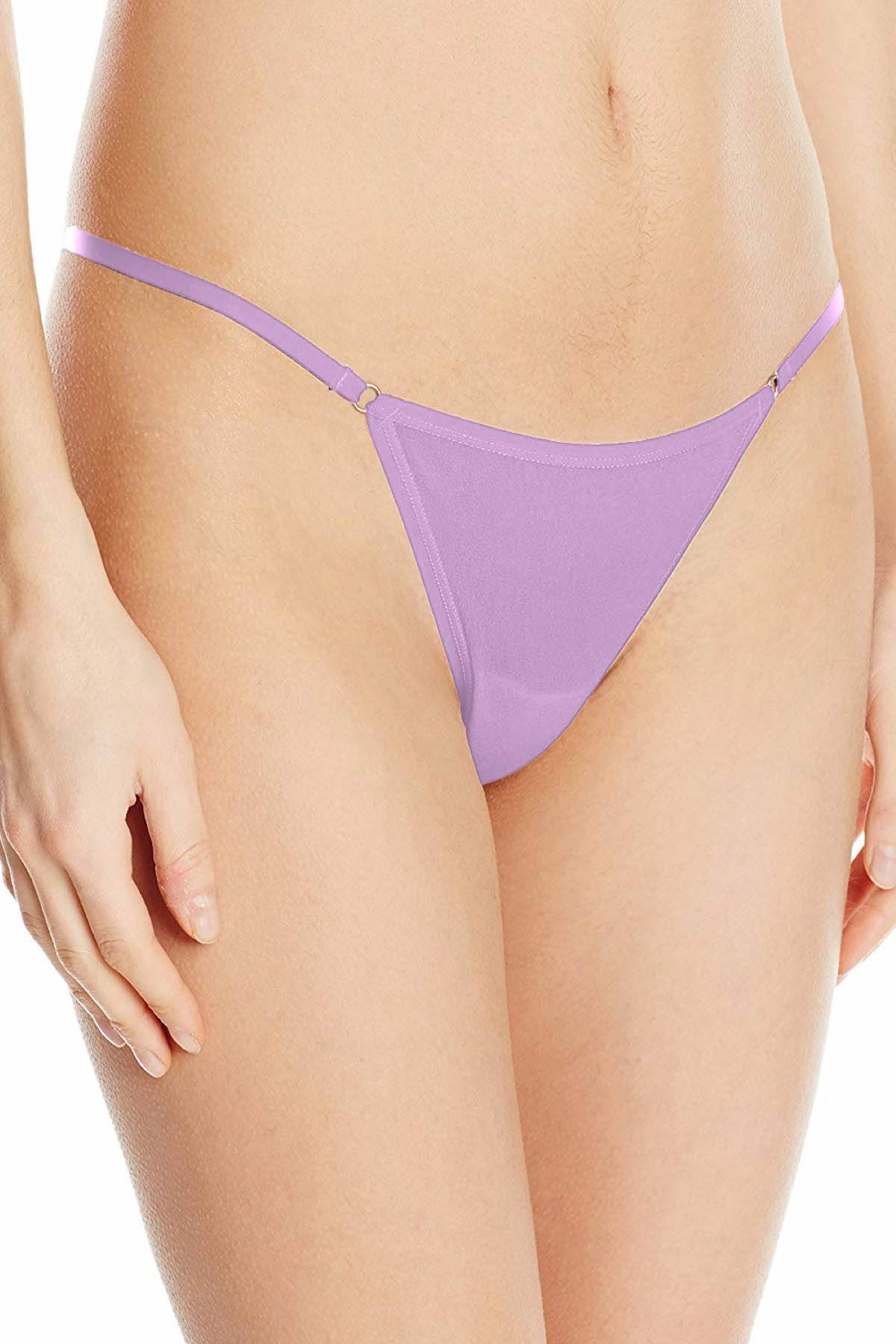 Frederick's Of Hollywood Lavender Ring Thong