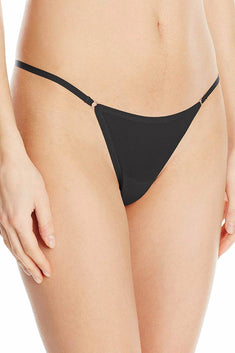 Fredericks Of Hollywood Black Ring Thong