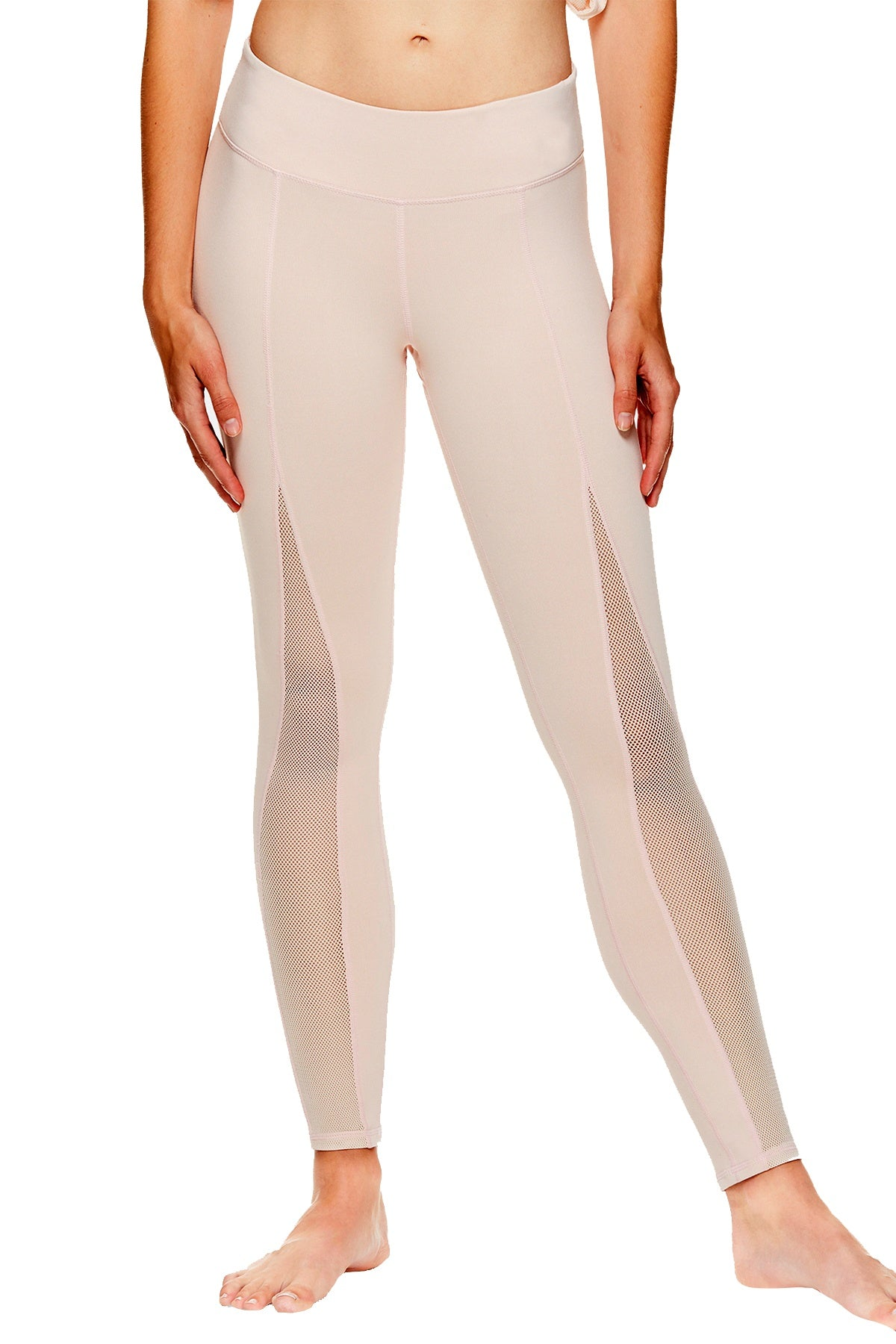 GAIAM x Jessica Biel Peach-Whip Madison Mesh-Detail High-Rise Legging