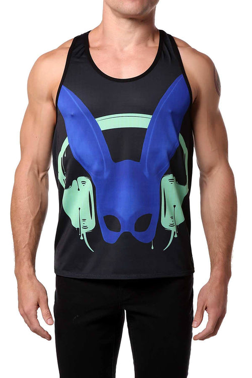 Gian Gianni Blue Rabbit Tank Top - CheapUndies.com