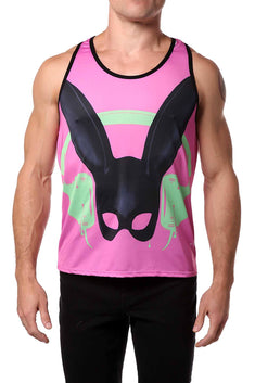 Gian Gianni Pink Rabbit Tank Top