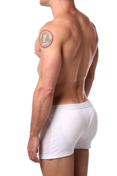 Go Softwear White Padded-Rear Boxer Brief - CheapUndies.com