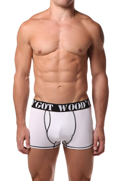 Got Wood White Boxer Brief
