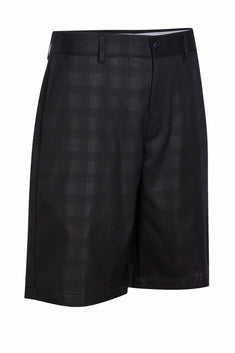 Greg Norman for Tasso Elba Deep-Black Big/Tall Embossed Golf Short
