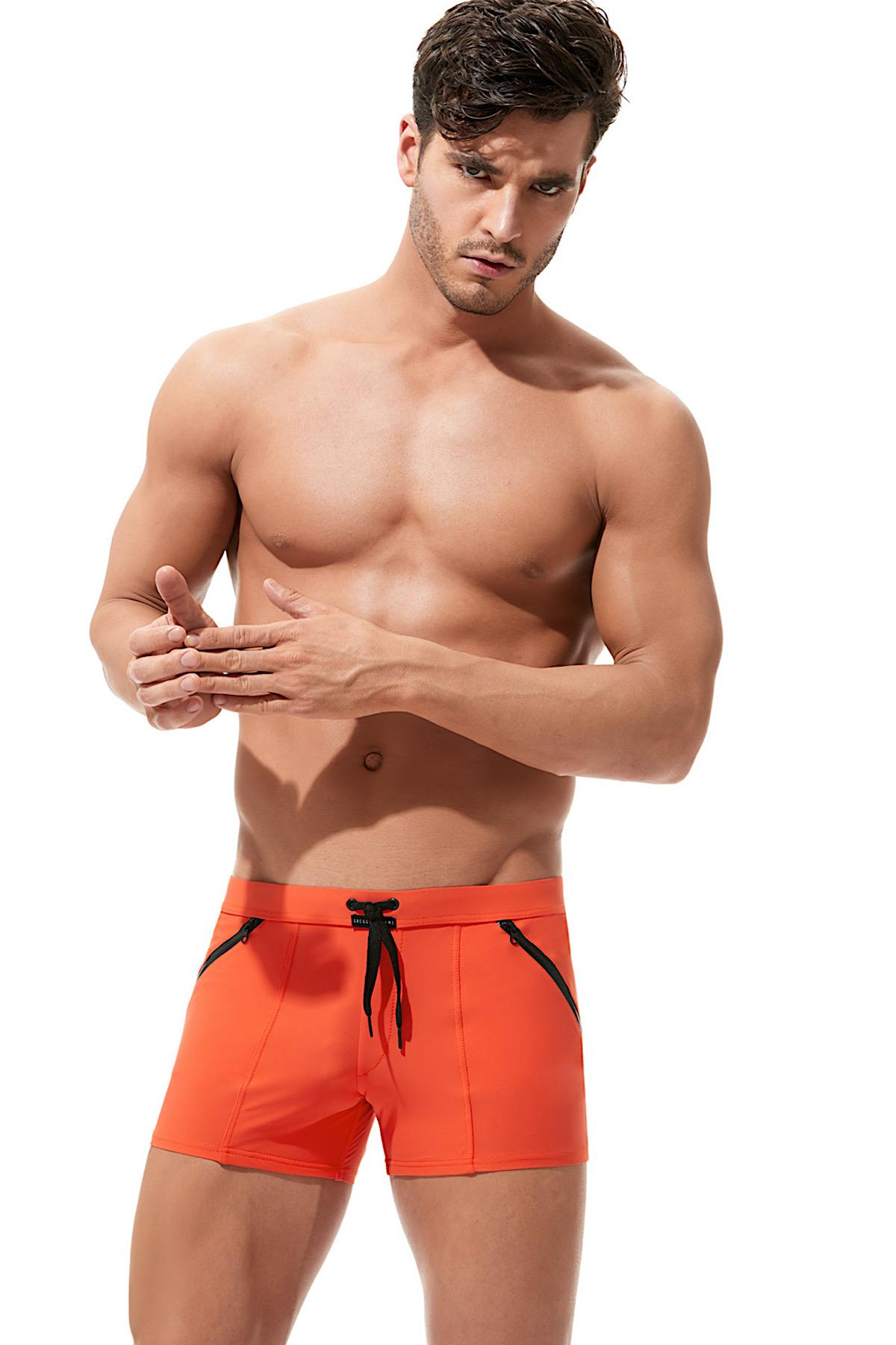 Gregg Homme Orange Exotic Swim Trunk