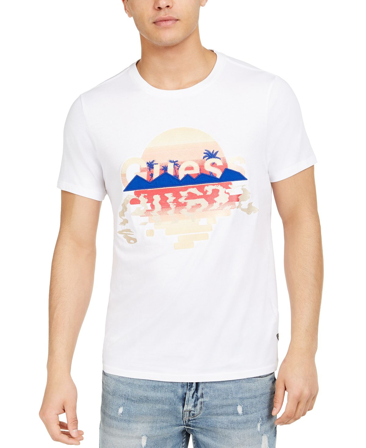 Guess Island Graphic T-shirt Pure White