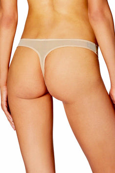 HEIDI By Heidi Klum Toasted-Almond Stretch French-Cut Lace Thong
