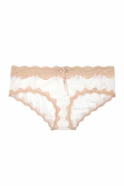 HEIDI by Heidi Klum Pristine/Toasted-Almond Mesh/Lace Hipster - CheapUndies.com