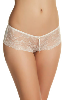 HEIDI by Heidi Klum Silver-Peony/Pristine French-Lace Hipster
