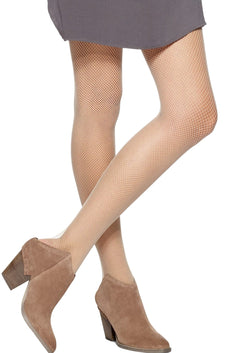HUE Cream Fishnet Tights