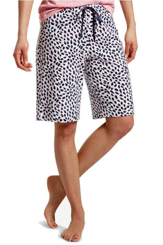 HUE PLUS Snow-White Spotted Bermuda Pajama Short