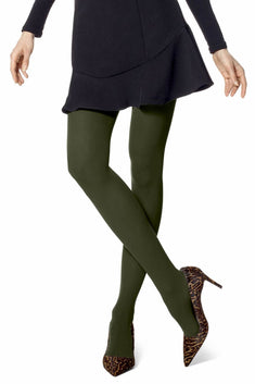 HUE Shadow-Olive Opaque Tights