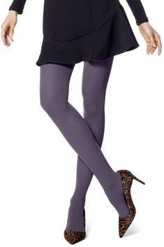 HUE Smokey-Purple Opaque Tights