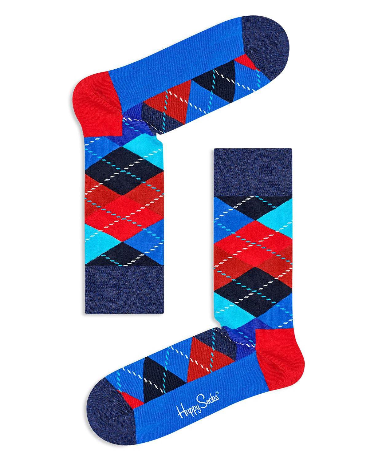 Happy Socks Argyle Socks Blue Multi