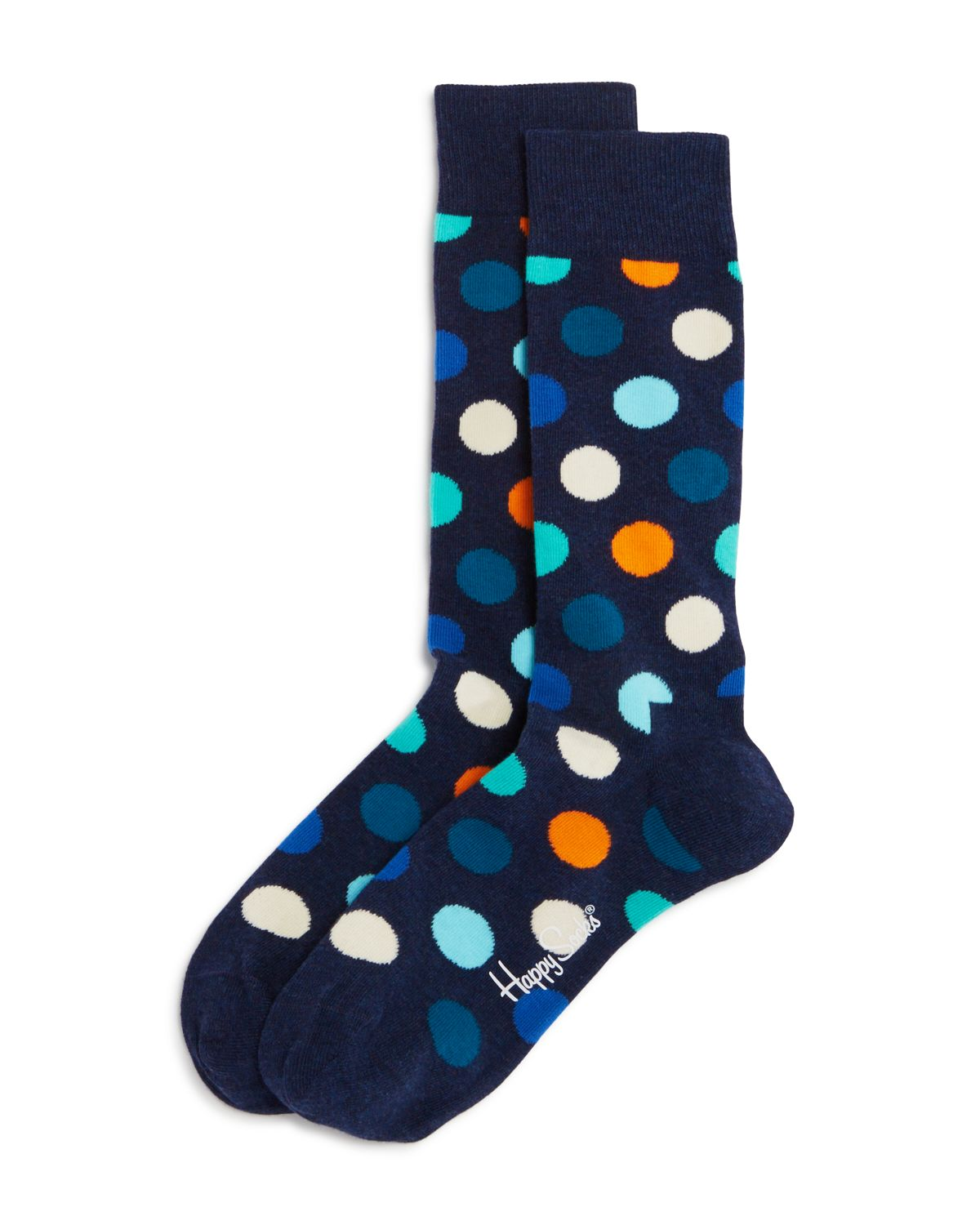 Happy Socks Big Dot Socks Blue Multi