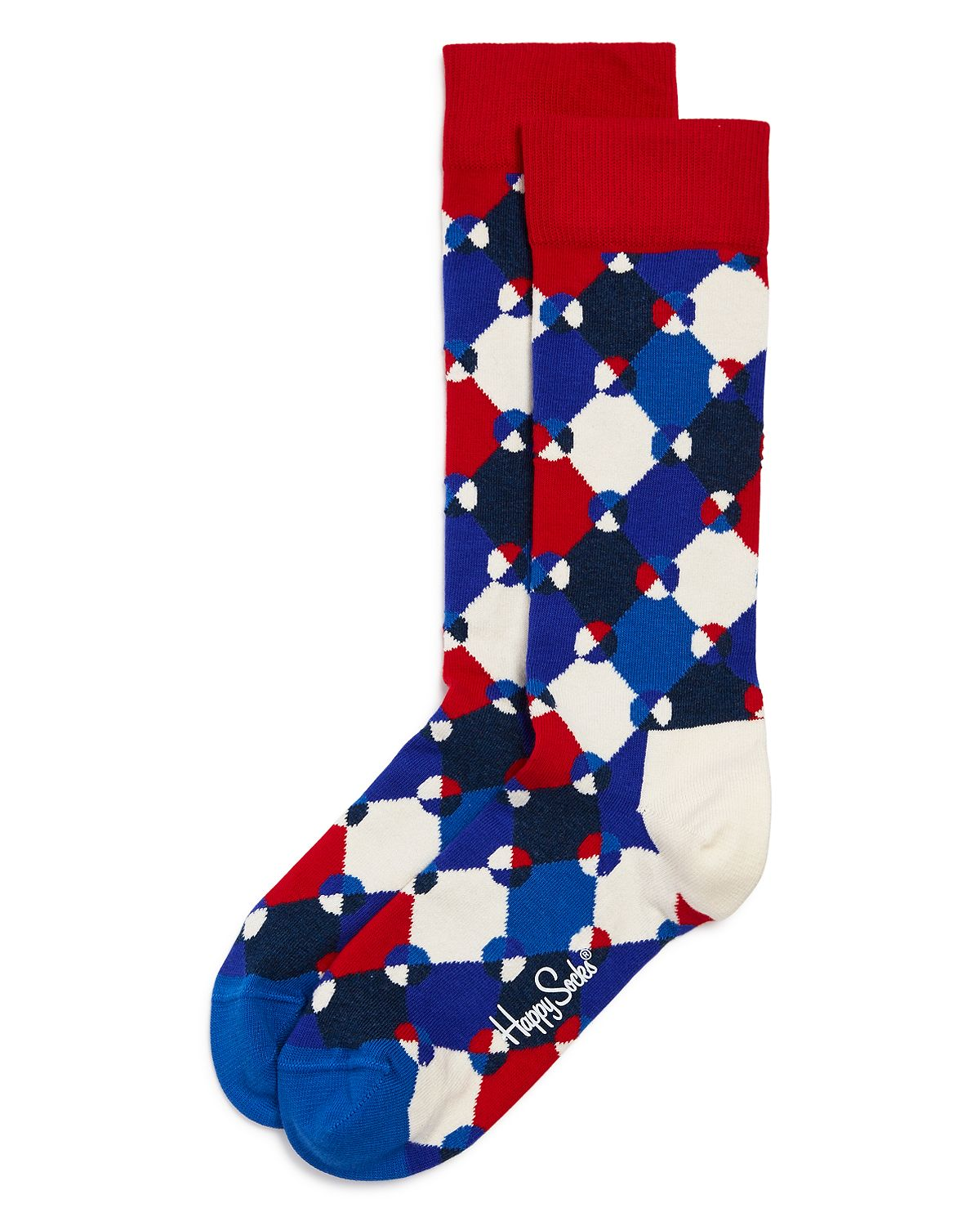 Happy Socks Diamond Dot Socks Navy/Red