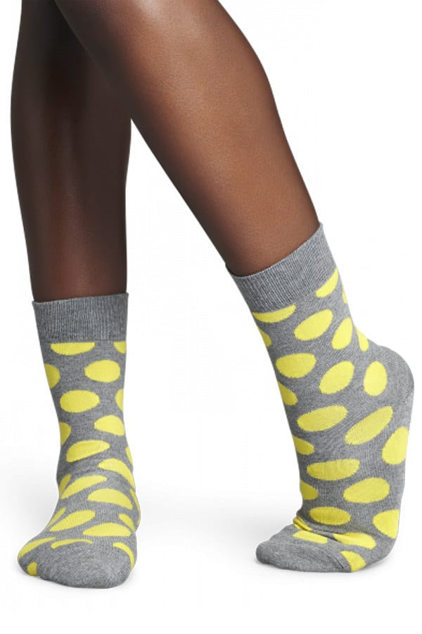 Happy Socks Grey Polka Dot Socks