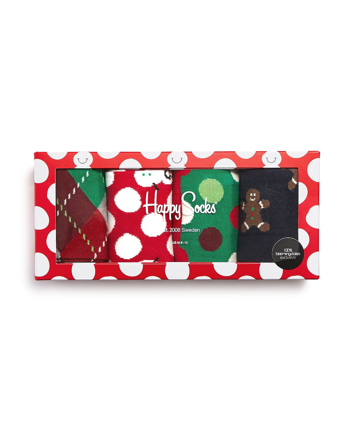 Happy Socks Holiday Gift Box Set Red/green