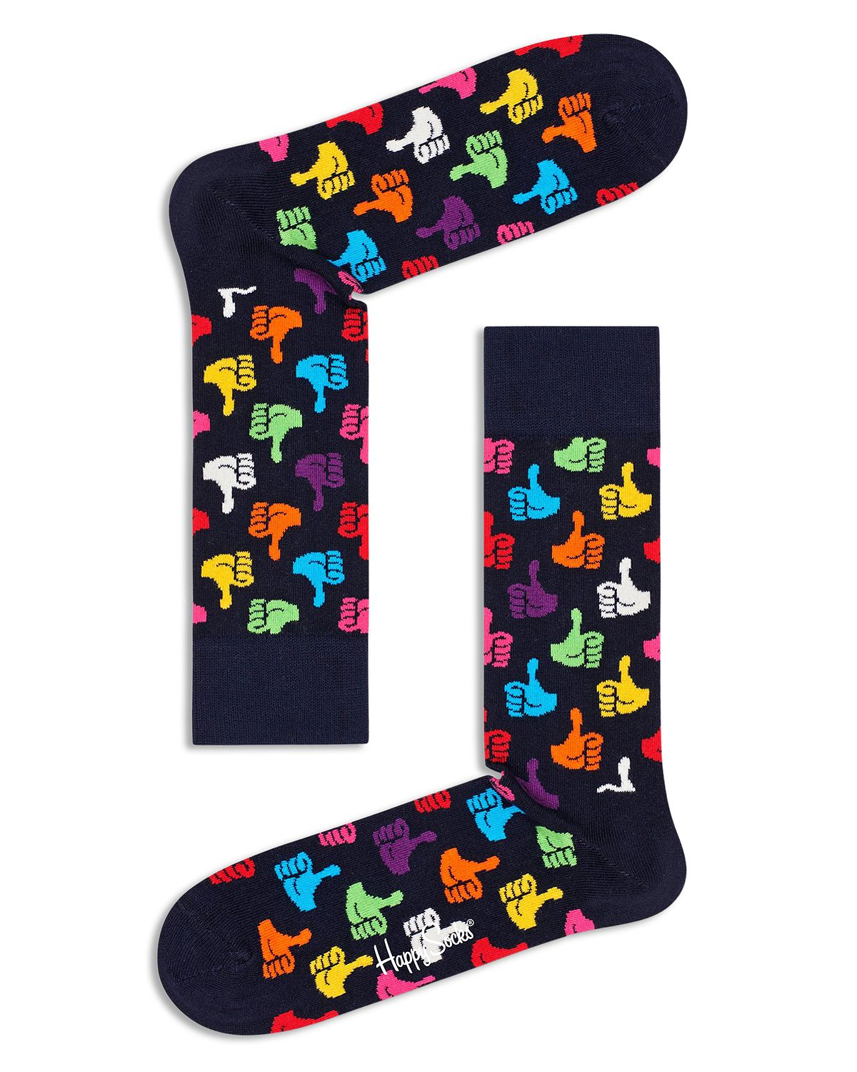 Happy Socks Thumbs Up Crew Socks Navy/Red