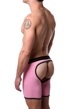 HardCore by GoSoftwear Pink/Grey Xpose Backless Boxer Brief