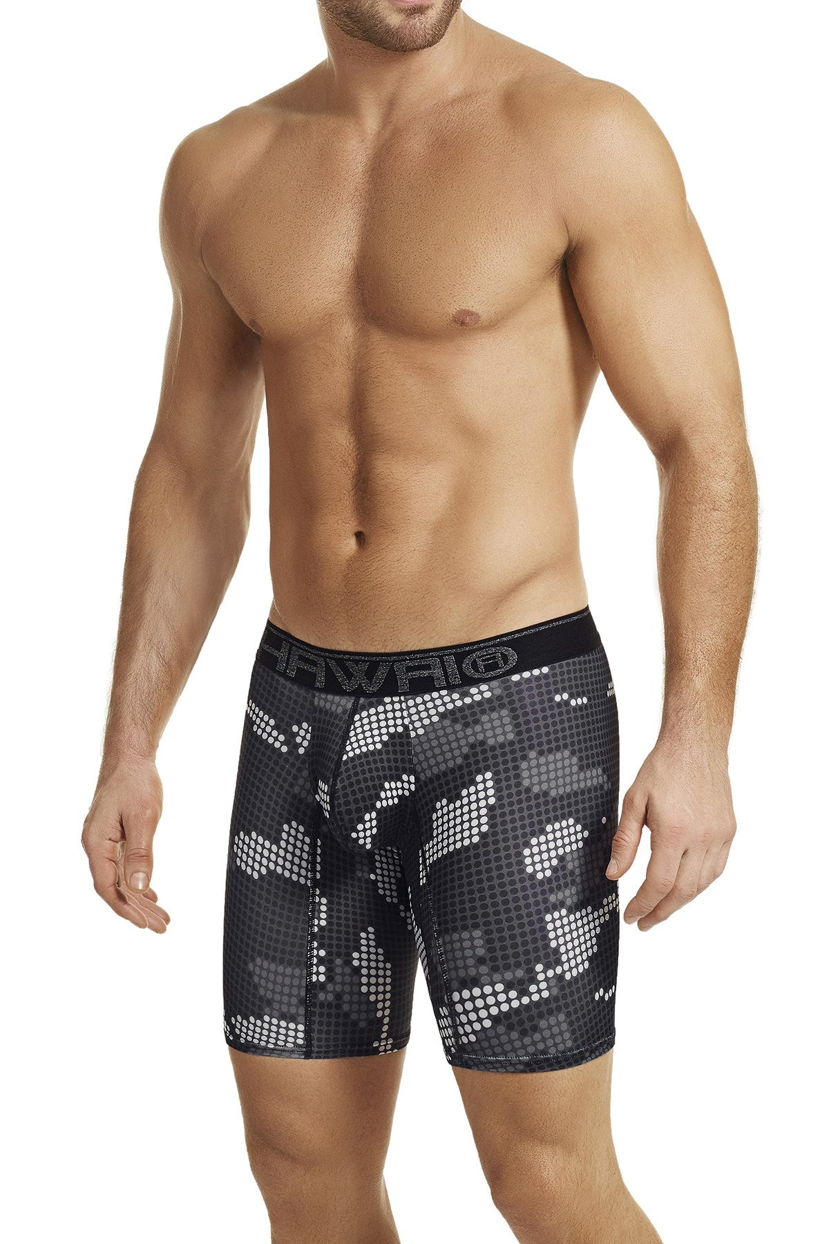 Hawai Black Digital Camo Print Boxer Brief